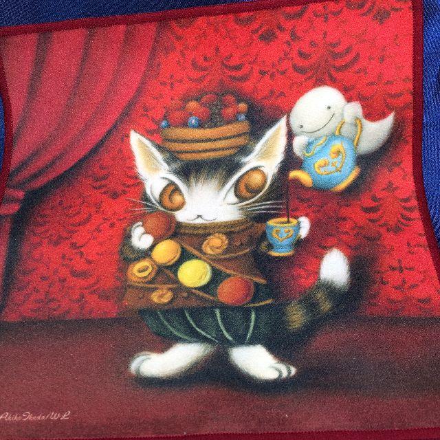 猫のダヤンのメガネ拭き「赤い部屋のマカロン」の全体画像