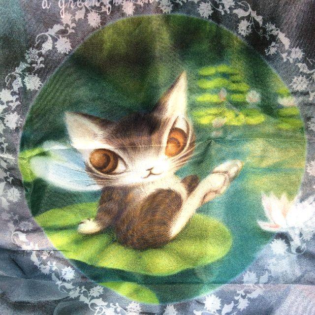 ダヤンのレインバッグカバー睡蓮の全体の画像