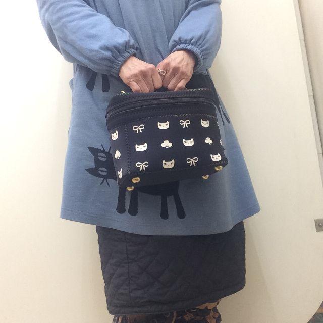 プチニャのバニティバッグを手に持った画像