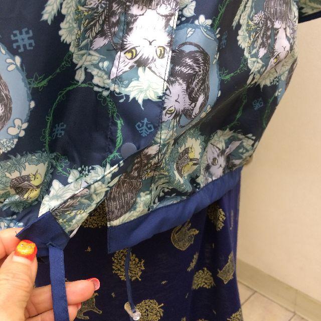 猫のダヤンのモモンガポンチョバルトBABY柄の裾の画像