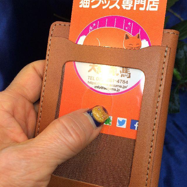 ダヤンのパスケースのスライド窓のクリアポケット部分の画像