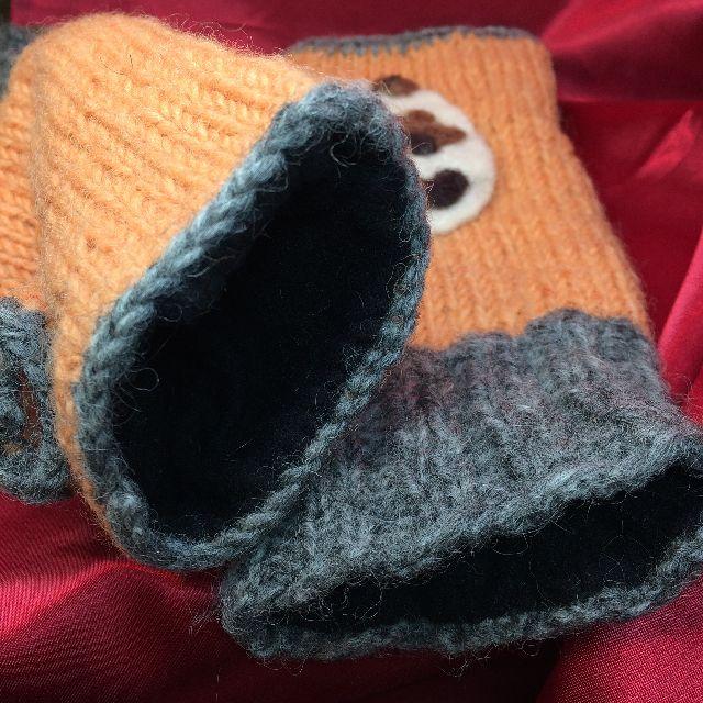 三毛猫指無し手袋の内側の画像