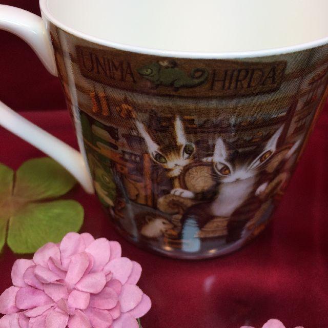 ダヤンの軽量マグカップ「グロッサリー」の、表側の画像