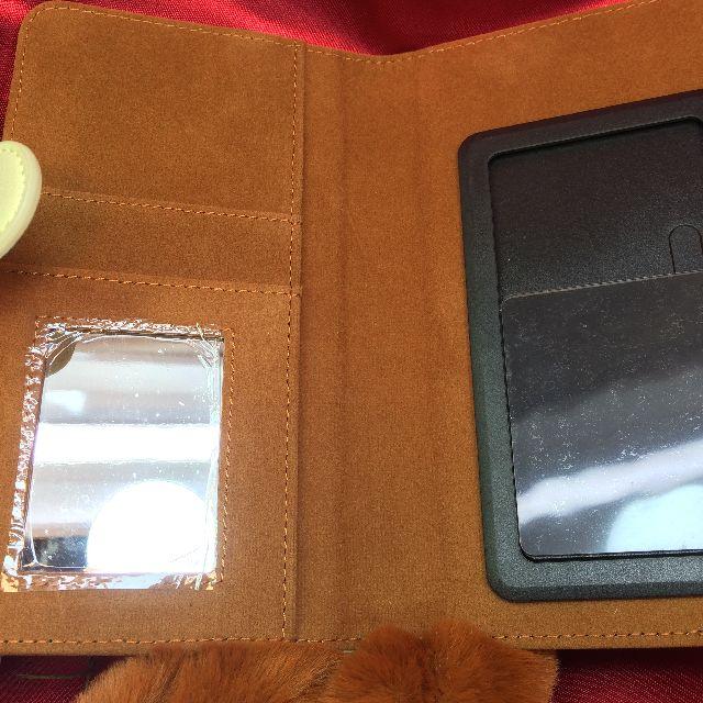 フェリシモ猫部のブック型スマホケース茶トラ猫の内側の画像