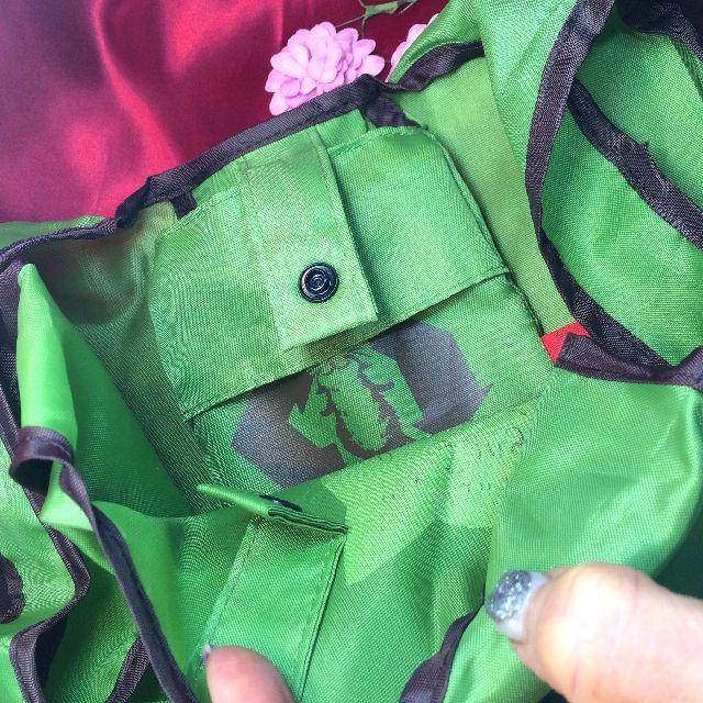 猫のダヤンのエコバッグ「クッキング」緑色の内側の画像