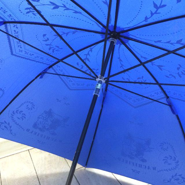 猫のダヤンの長傘「おさんぽ・猫模様」柄の内側画像