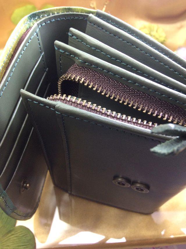 ダヤン睡蓮BABY二つ折り財布の脇ファスナー部分の画像