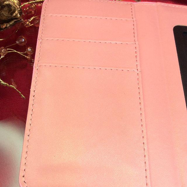 ダヤンのスマホケースの内側のポケット部分のクローズアップ画像