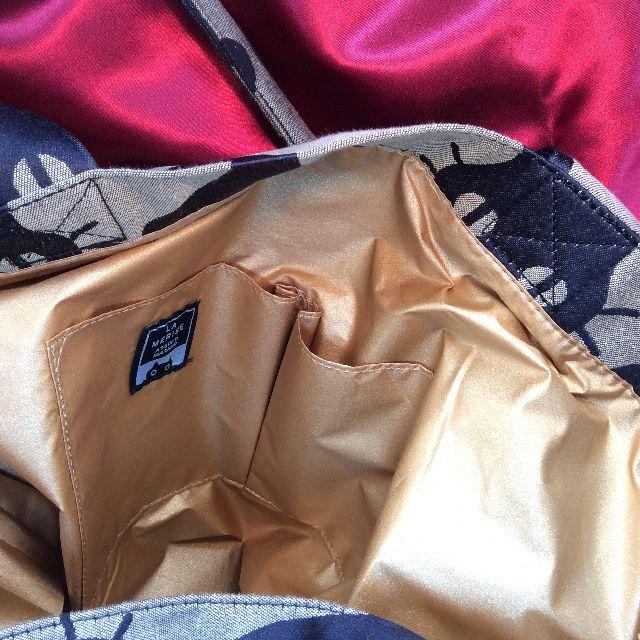 マタノアツコインテリア猫ビッグトートバッグの内側の画像