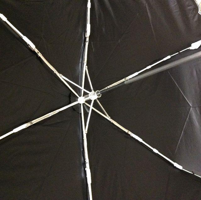 腕組みダヤンの晴雨兼用折りたたみ傘の内側の画像