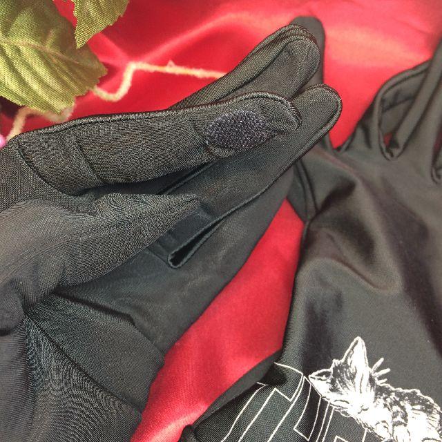 ダヤンの抗菌手袋「すやすや」の人差し指部分のクローズアップ画像