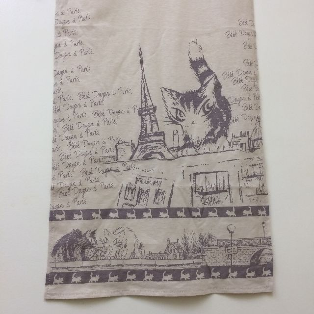 ダヤンのスカーフ「エッフェル」柄の左側の画像
