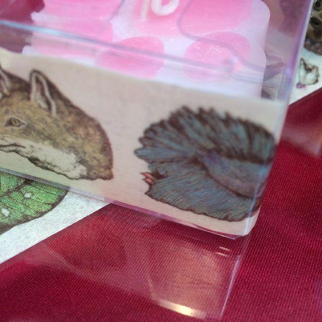 ヒグチユウコさんのマスキングテープを箱に貼った画像