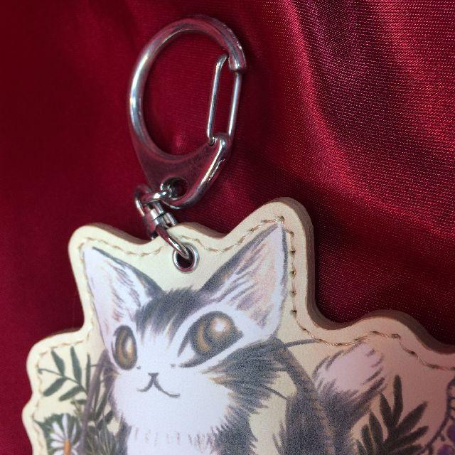 猫のダヤンのキーホルダー「バルトBABY」クリームの金具部分の画像