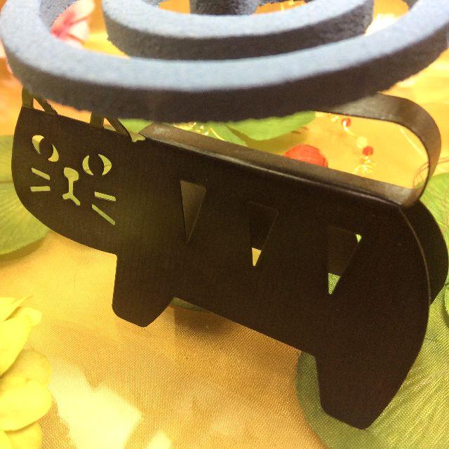 デコレ猫の蚊取り線香スタンドの全体画像