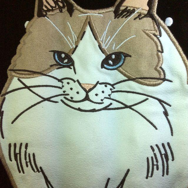 猫ガマグチ2WAYバッグ猫ガマグチ2WAYバッグ猫部分のクローズアップ画像