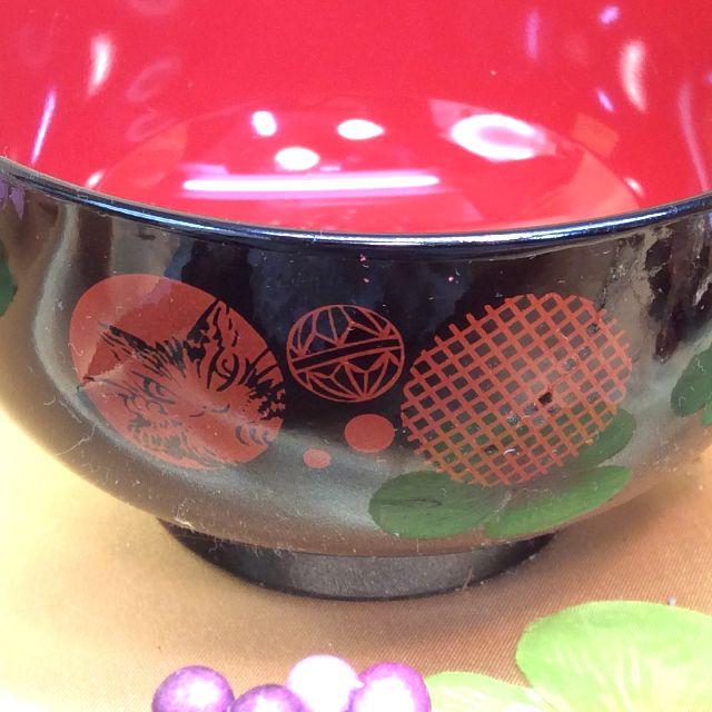 ダヤンの汁椀の外側の柄部分の画像