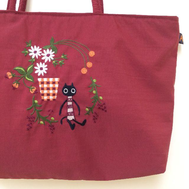 マタノアツコの黒猫メメトートバッグの絵柄画像