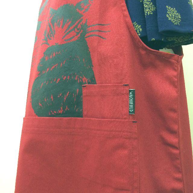 猫のダヤンのWORKエプロン「ふりむき猫」柄の脇の画像