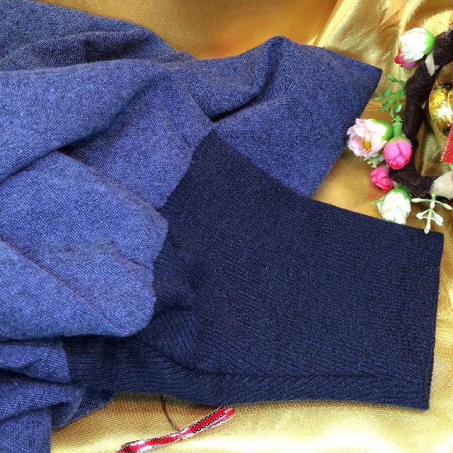 クスグルジャパンの割烹着の袖のリブ編部分の画像