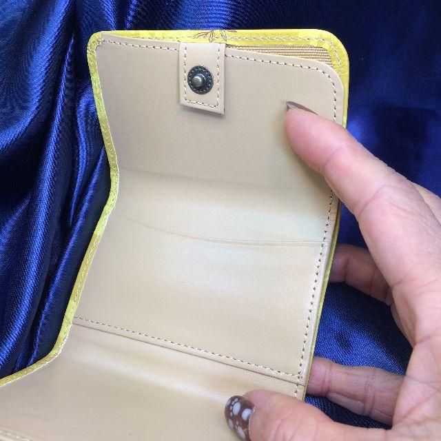 猫のダヤンの極小三つ折り財布「丸猫」柄を広げた内側画像