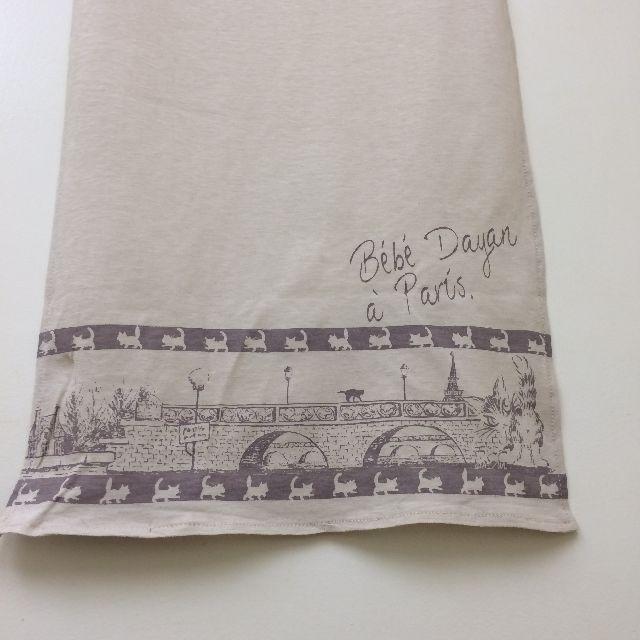 ダヤンのスカーフ「エッフェル」柄の右側の画像