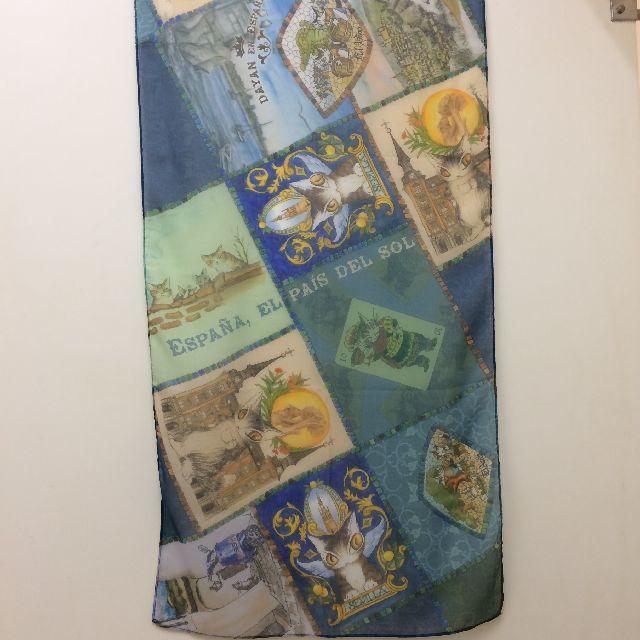 ダヤンのUVアートストール「セビージャ」の全体画像