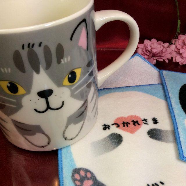 グレートラ猫マグカップとコースターの全体の画像