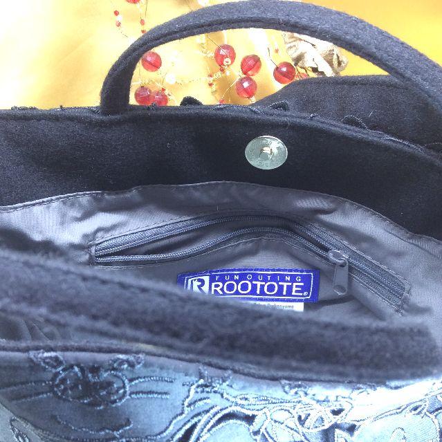 ルートート猫柄ラウンドトートバッグの内側の画像
