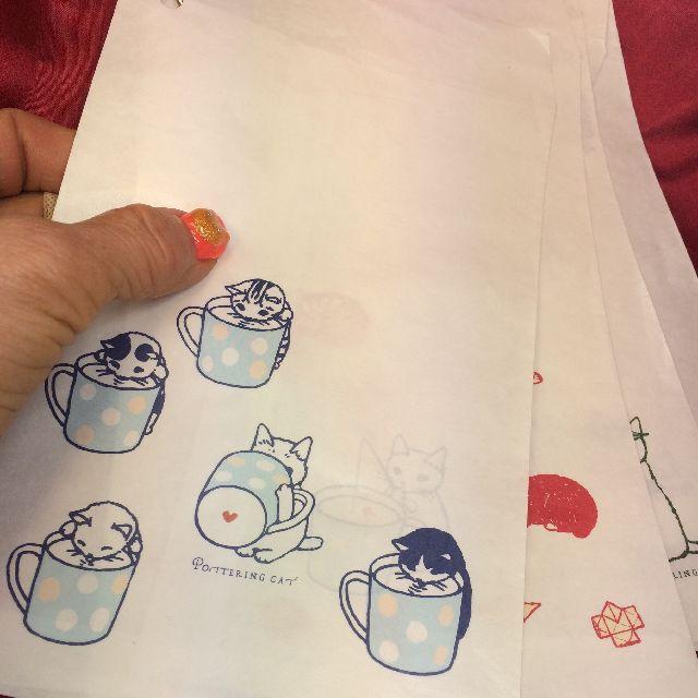 ポタリングキャット白袋「その1」12枚入りを手に持った全体画像