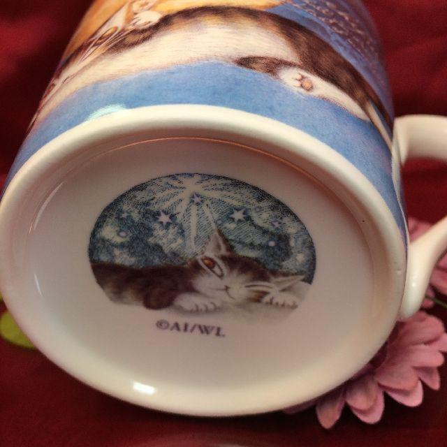 ダヤンの軽量マグカップ「月に乾杯」の底面側の画像