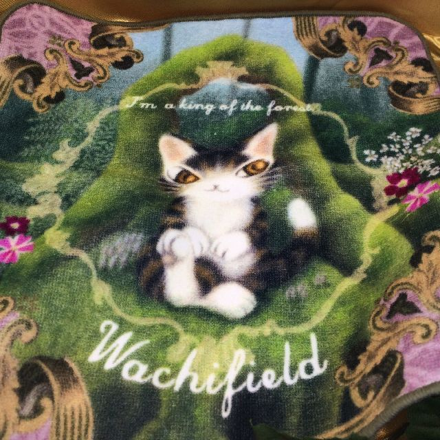 猫のダヤンのタオルハンカチ「森の王様」の全体画像