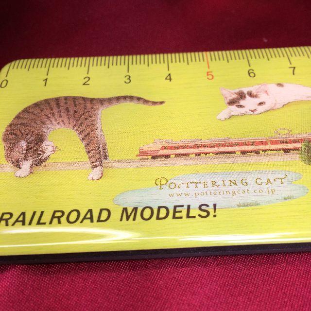 ポタリングキャットのカードマグネット「鉄道模型1」柄の全体画像