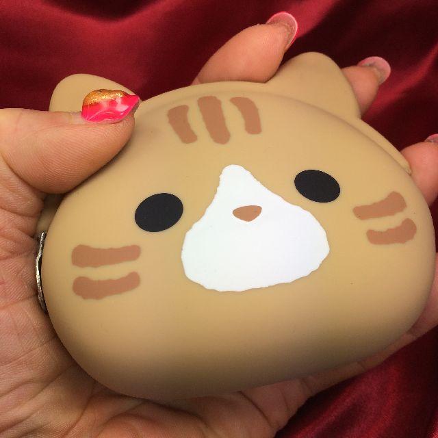 ミミポーチシリコンがま口茶トラ猫の全体画像