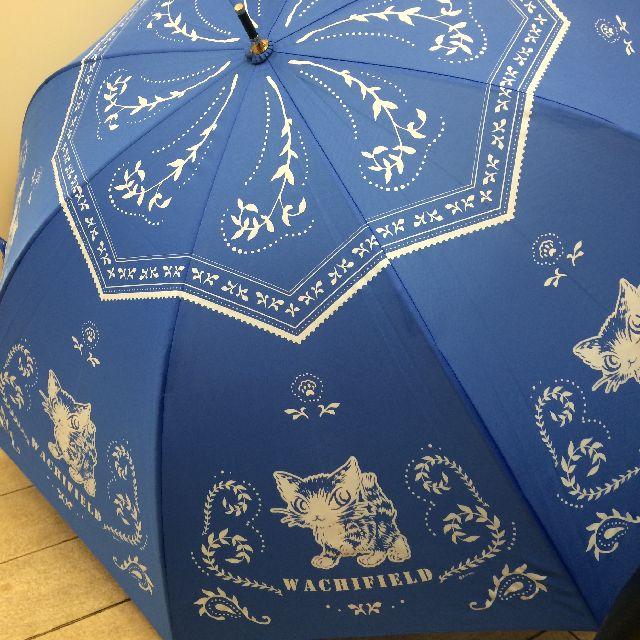 猫のダヤンの長傘「おさんぽ・猫模様」柄の全体画像