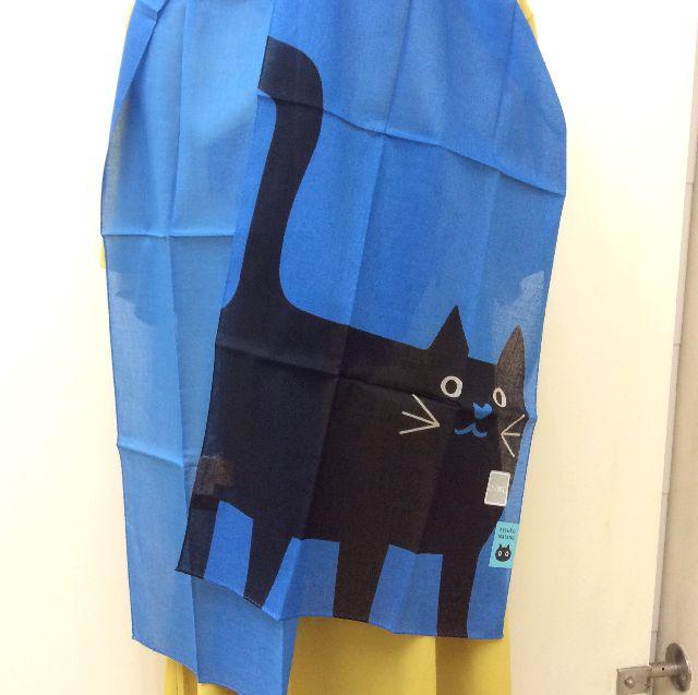 マタノアツコ青サマーストールの黒猫部分の画像